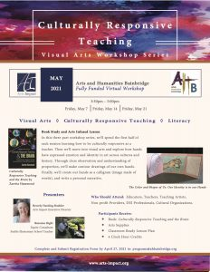 Fully Funded Visual Arts Workshop: Culturally Responsive Teaching