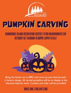 FREE Pumpkin Carving at the BIRC